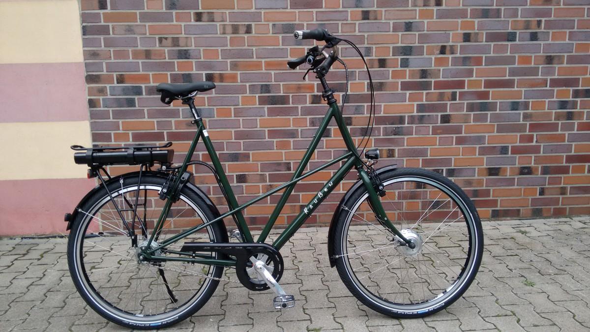 Raußen R3, E-bike | Rahmenhöhe 70 cm | grün | Ansmann Motor
