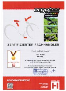 Zertifikat Ergotec 2017