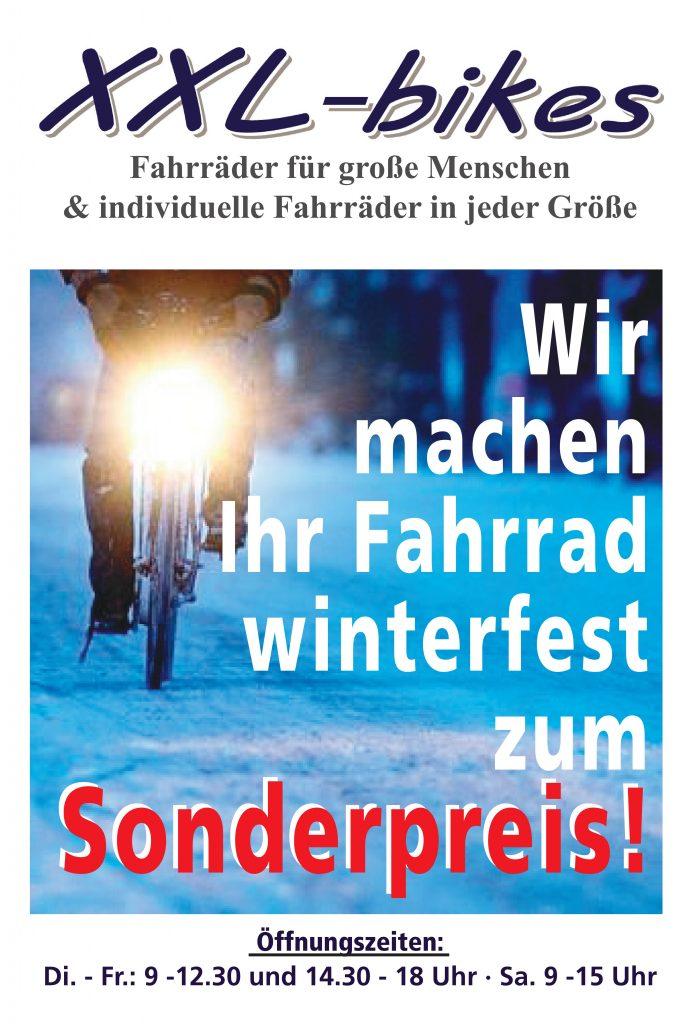 Wir machen Ihr Fahrrad winterfest