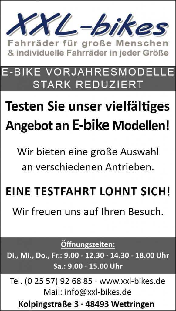 E-bike Vorjahresmodelle stark reduziert
