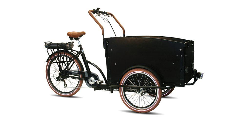 TROY Bakfiets E-bike matt schwarz