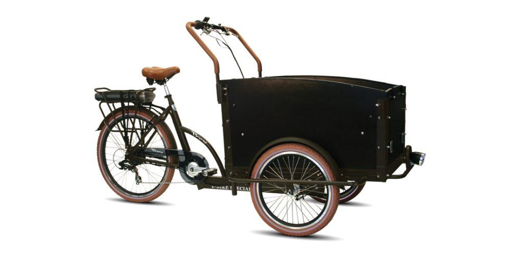 TROY Bakfiets E-bike braun