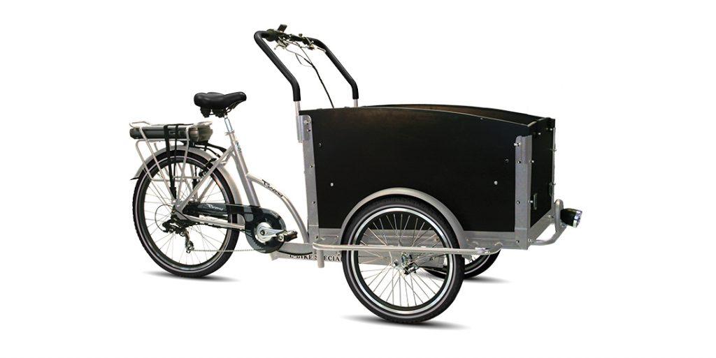 TROY Bakfiets E-bike silber