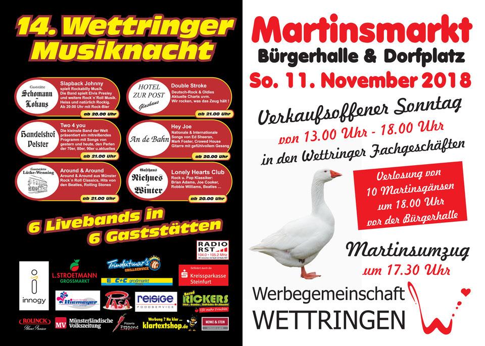 Wettringer Martinsmarkt 2018